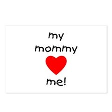 My mommy loves me Postcards (Package of 8)