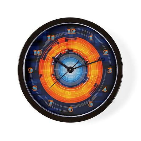 Orange and Blue Lens Wall Clock