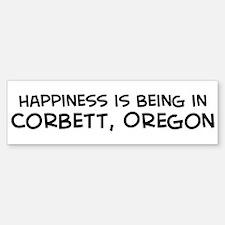 Corbett - Happiness Bumper Bumper Bumper Sticker