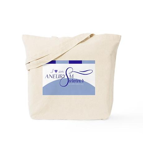 I <3 An Aneurysm Survivor (Blue) Tote Bag