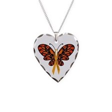 MS Awareness Butterfly Ribbon Necklace