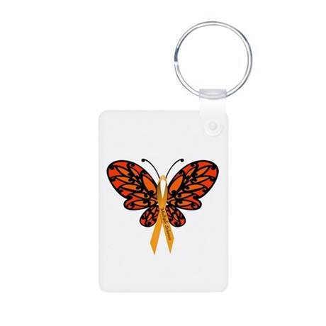 MS Awareness Butterfly Ribbon Keychains