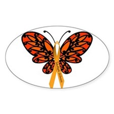 MS Awareness Butterfly Ribbon Decal