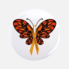 """MS Awareness Butterfly Ribbon 3.5"""" Button (10"""