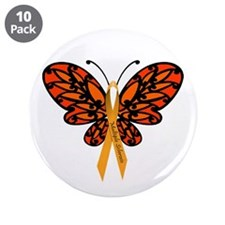 "MS Awareness Butterfly Ribbon 3.5"" Button (10"