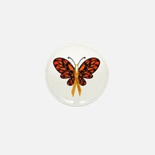 MS Awareness Butterfly Ribbon Mini Button (100 pac