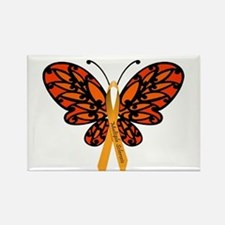 MS Awareness Butterfly Ribbon Rectangle Magnet