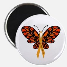 "MS Awareness Butterfly Ribbon 2.25"" Magnet (1"