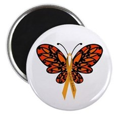 MS Awareness Butterfly Ribbon Magnet