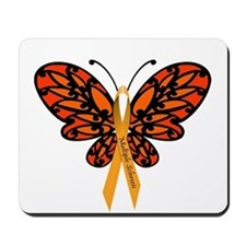 MS Awareness Butterfly Ribbon Mousepad