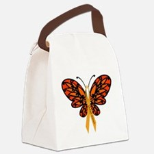 MS Awareness Butterfly Ribbon Canvas Lunch Bag