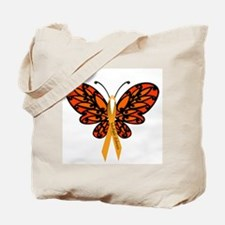 MS Awareness Butterfly Ribbon Tote Bag