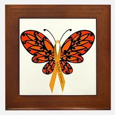 MS Awareness Butterfly Ribbon Framed Tile