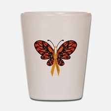 MS Awareness Butterfly Ribbon Shot Glass