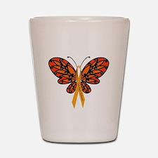 MS Awareness Butterfly Ribbon Shot Glass