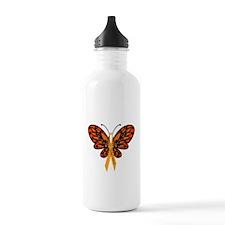 MS Awareness Butterfly Ribbon Water Bottle