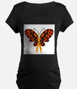 MS Awareness Butterfly Ribbon Maternity T-Shirt