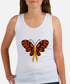 MS Awareness Butterfly Ribbon Tank Top