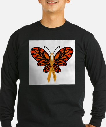 MS Awareness Butterfly Ribbon Long Sleeve T-Shirt