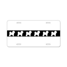 Cute Bichon frise Aluminum License Plate