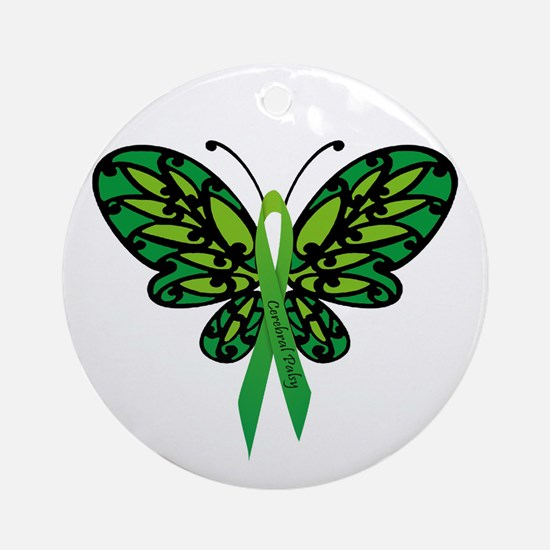 CP Awareness Ribbon Ornament (Round)