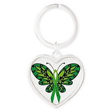 CP Awareness Ribbon Heart Keychain