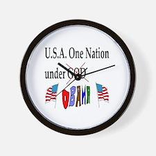 USA Obama Wall Clock