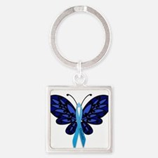 Diabetes Awareness Square Keychain