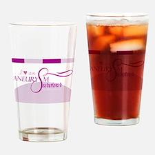 I <3 An Aneurysm Survivor (Purple) Drinking Glass