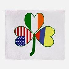 Shamrock of Colombia Throw Blanket