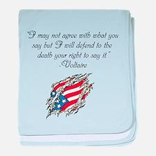 Voltaire quote baby blanket