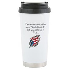Voltaire quote Travel Mug