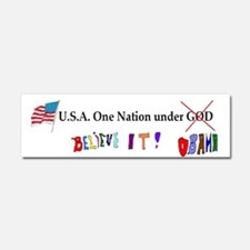 USA Obama Car Magnet 10 x 3
