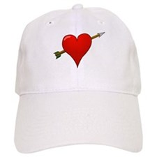 Red Heart With Arrow Baseball Baseball Baseball Cap