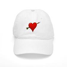 Red Heart With Arrow Baseball Cap