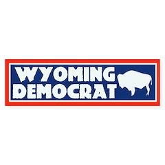 Wyoming Democrat Bumper Bumper Sticker