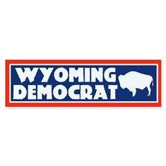 Wyoming Democrat Bumper Bumper Sticker