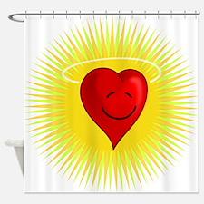 Cartoon Heart Angel Shower Curtain