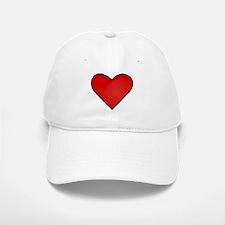 Red Heart Drawing Baseball Baseball Baseball Cap