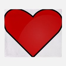 Red Heart Drawing Throw Blanket