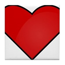 Red Heart Drawing Tile Coaster