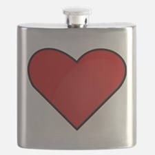 Red Heart Drawing Flask