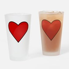 Red Heart Drawing Drinking Glass