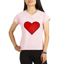 Red Heart Drawing Peformance Dry T-Shirt