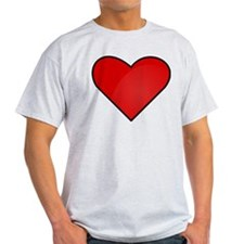 Red Heart Drawing T-Shirt