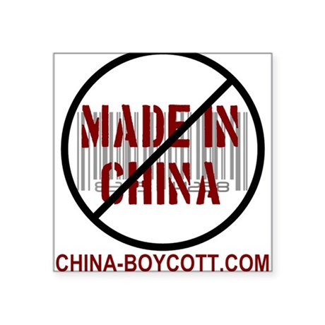 China Boycott Rectangle Sticker