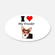 I Love my Tricolor Oval Car Magnet
