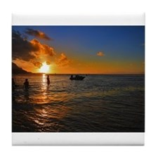 Kauai Sunset Tile Coaster