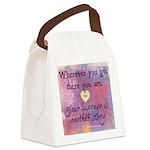 Wherever you go... Canvas Lunch Bag