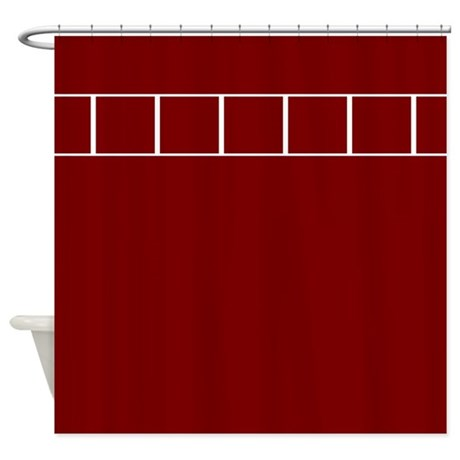 Maroon Ladders Shower Curtain By CopperCreekDesignStudio